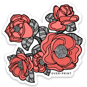 Flowers Vinyl Sticker