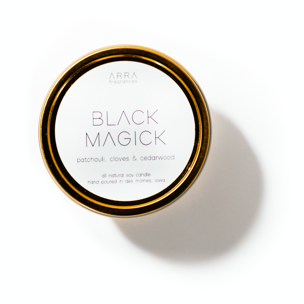 Black Magick - Gold Travel Candle