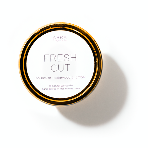 Fresh Cut - Gold Travel Candle