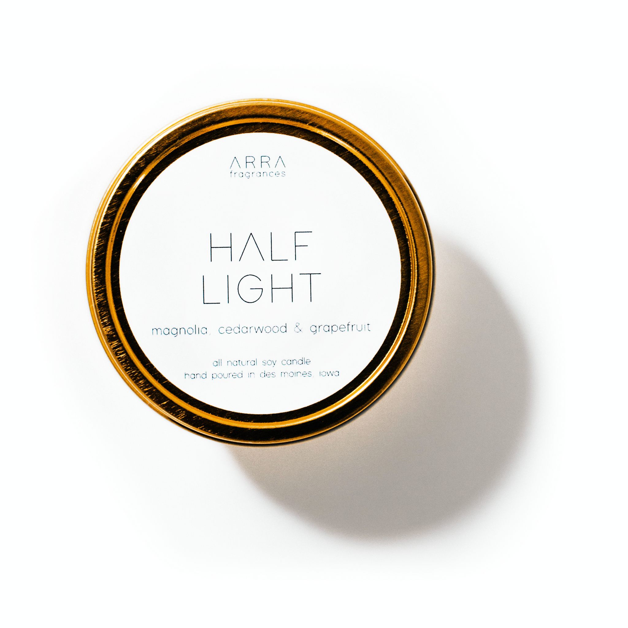 Half Light  - Gold Travel Candle