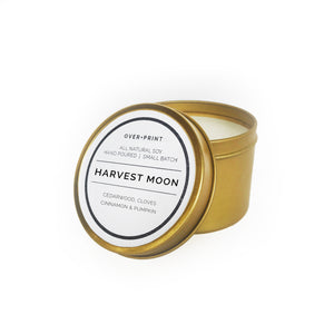 Harvest Moon - Gold Travel Candle