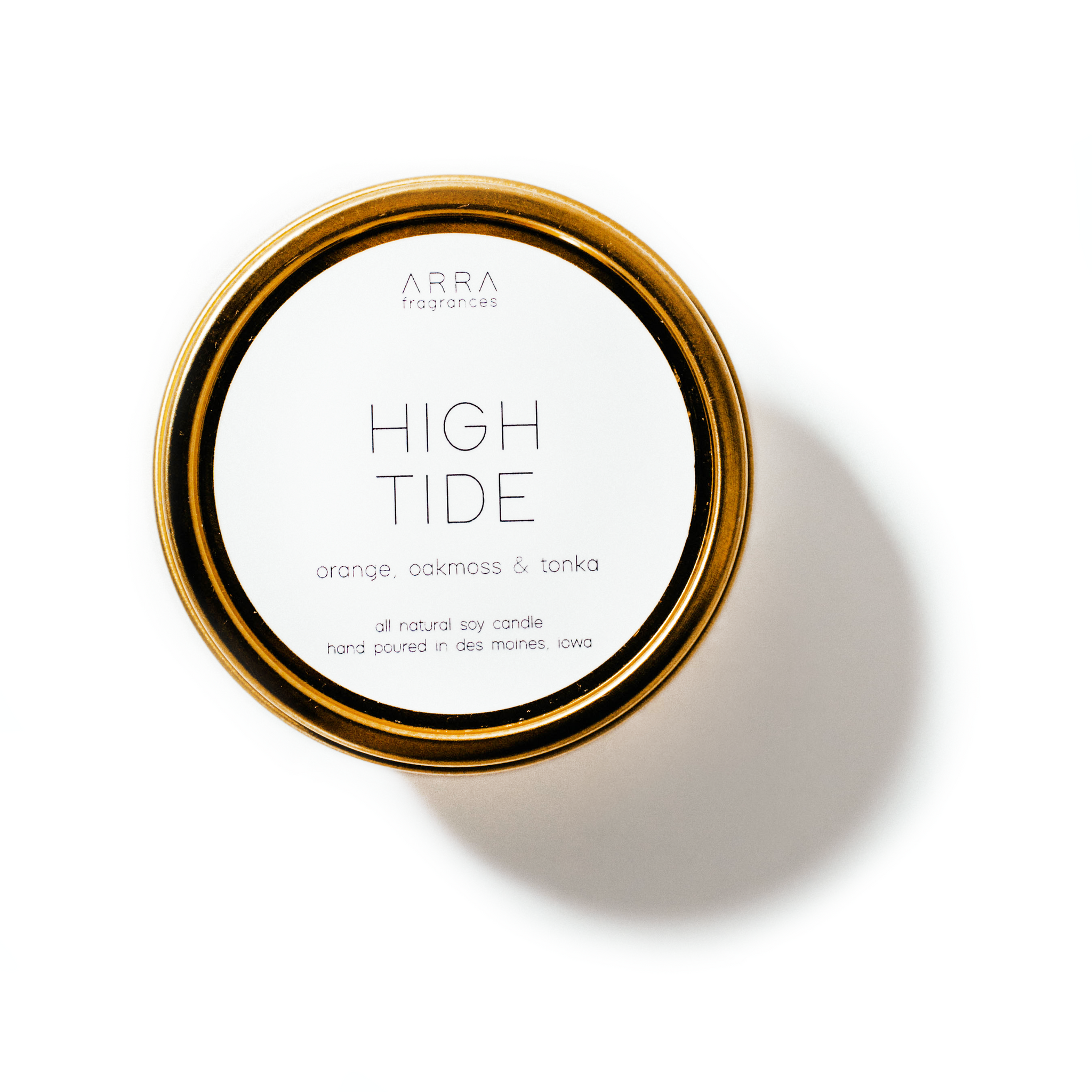 High Tide - Gold Travel Candle