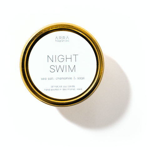 Night Swim - Gold Travel Candle