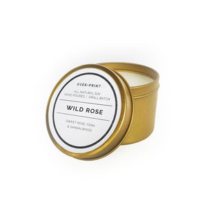 Wild Rose - Gold Travel Candle