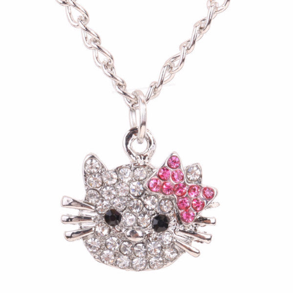 Crystal Cat Rhinestone Necklace - The Perfect Gift