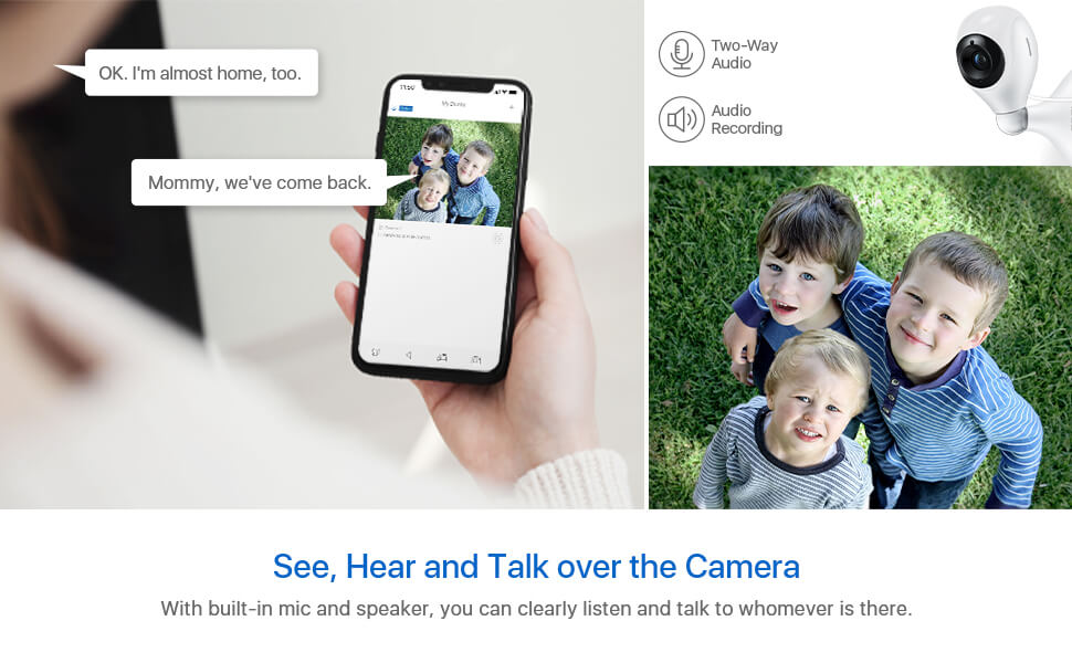see hear and talk over C611 camera