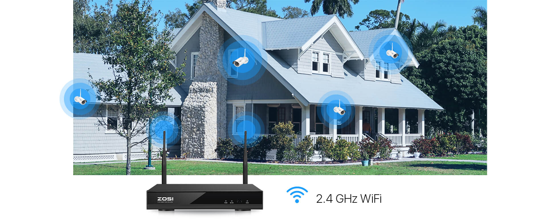 zosi wifi security support max 1000ft wifi range