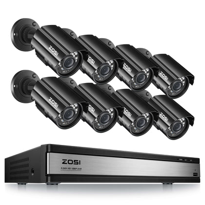 16 Channel DIY Security System, 1080P Weatherproof Camera, 80ft Infrared Night Vision