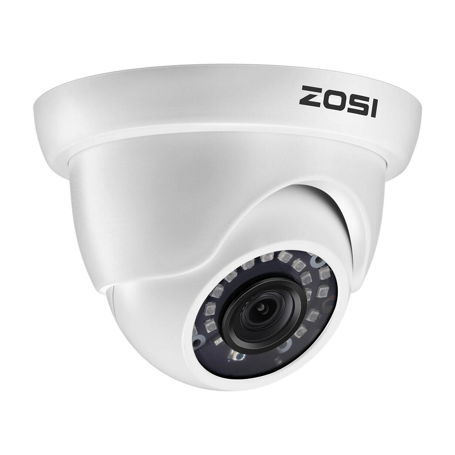 1080P Dome Camera, 80ft Infrared Night Vision, Compatible with TVI CVI AHD CVBS Security DVR