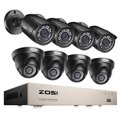 H.265+ 1080P Security System, Dome & Bullet Security Camera, Infrared Night Vision