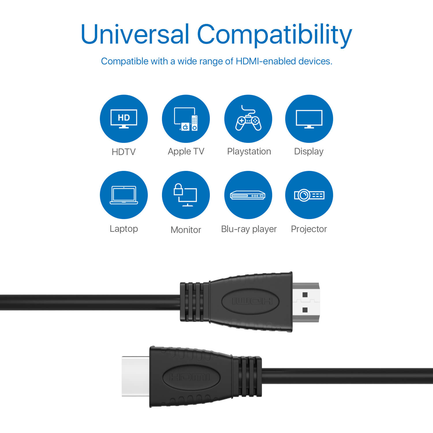 4K Ultra Premium High Speed HDMI Cable 6FT for Video Audio HDTV LCD HD TV
