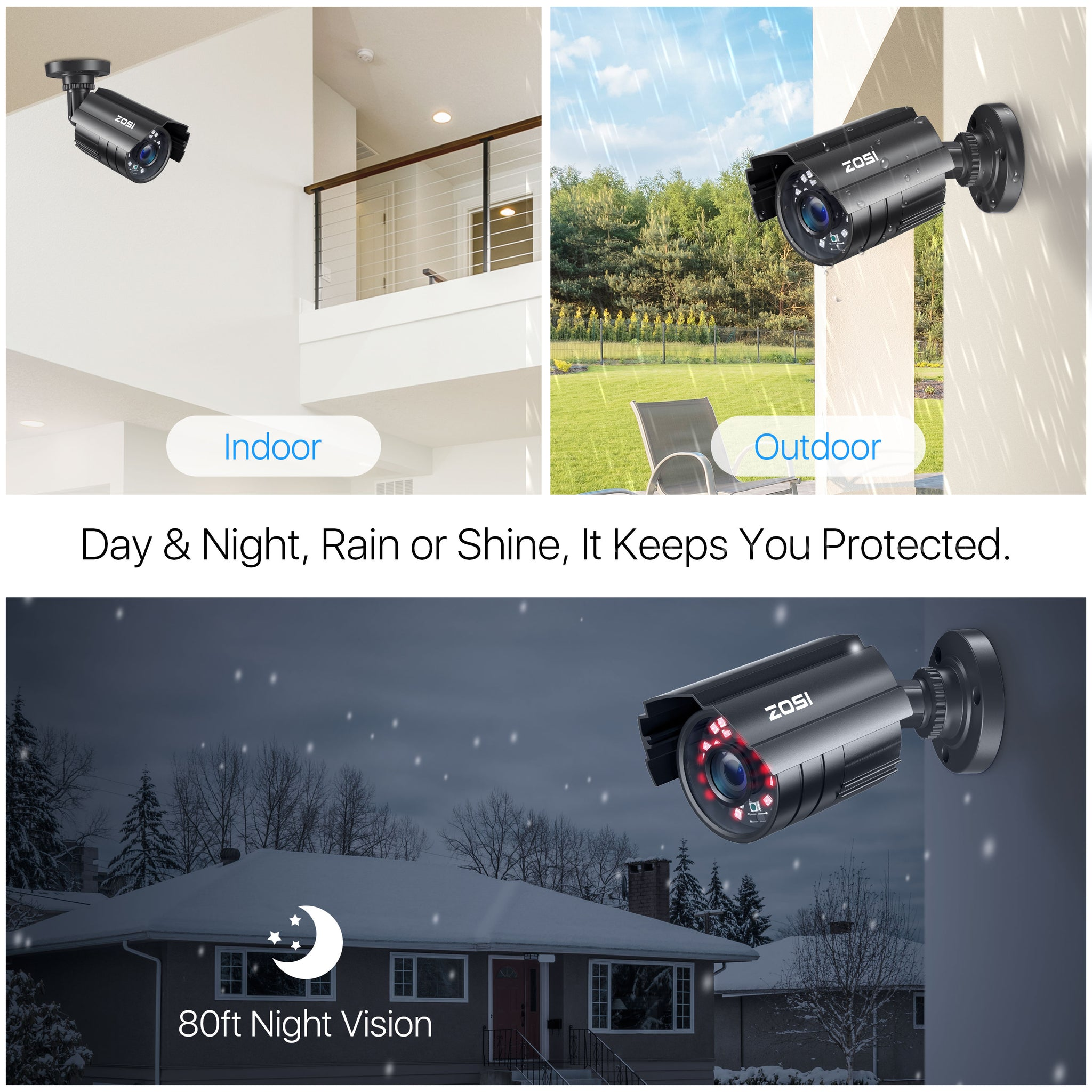 1080P Security Camera System, 8 Channel H.265+ Video DVR Recorder, Indoor Outdoor Weatherproof Securtiy Camera