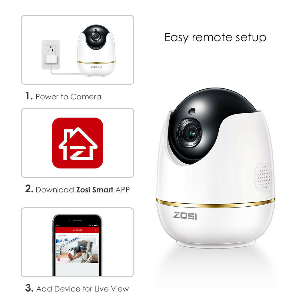 1080P HD Two-Way Audio Baby Monitor Pan Tilt IP Camera