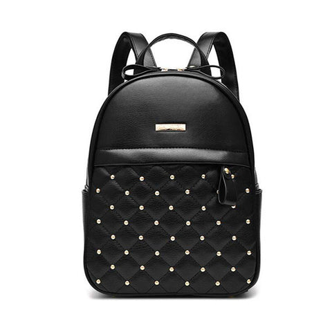 Women Backpacks 2016 Hot Sale Fashion Causal bags High Quality bead female shoulder bag PU Leather Backpacks For Girls,mochila