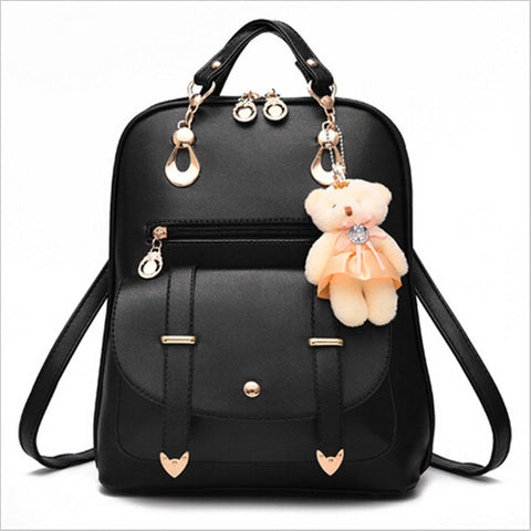 Backpacks Bolsas Mochila Feminina Large Girls Schoolbag Travel Bag Solid Candy Color Femme Sac A dos