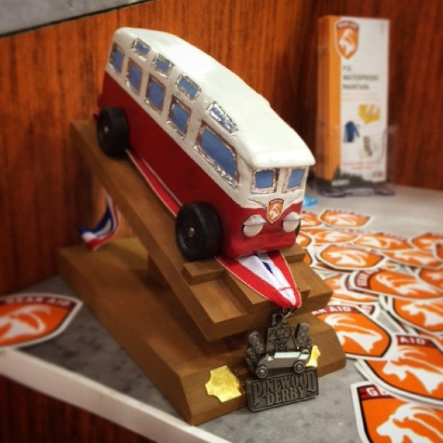 Pinewood Derby Bus Takes 2nd Place
