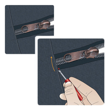 remove zipper slider