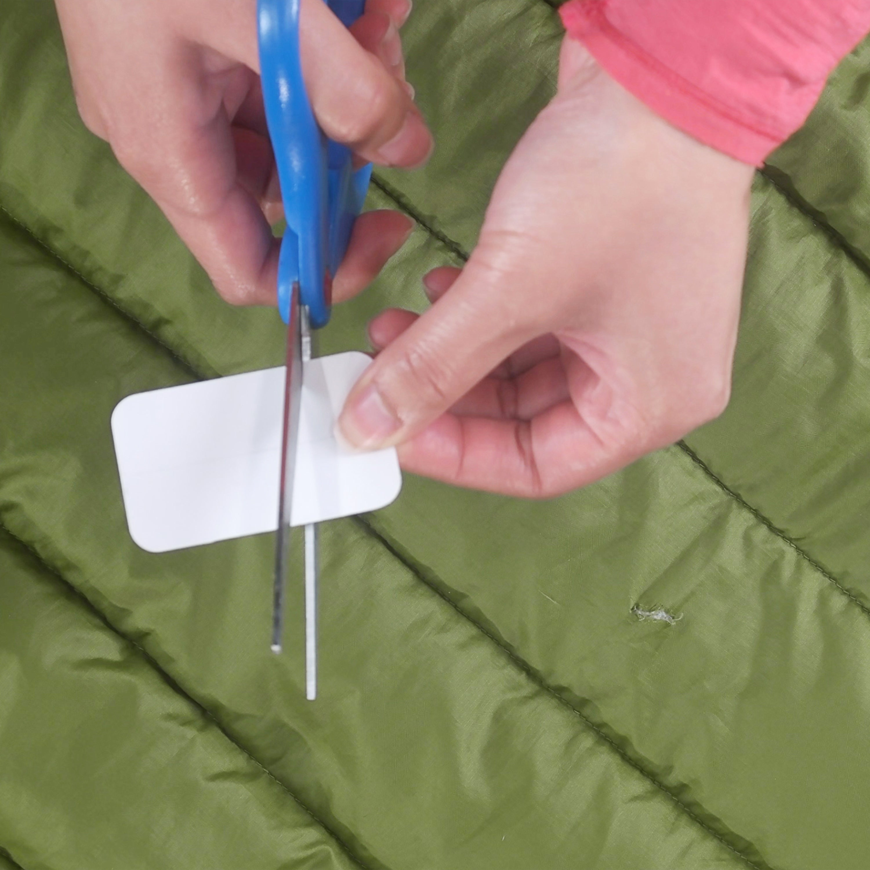 Outdoor Adhesive Repair Patch Kit Tape Camping Tent Jacket Air Mattress Blue