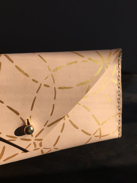 Large Leather Envelope Clutch