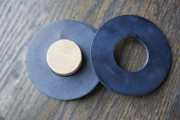 Leather Circle Coasters