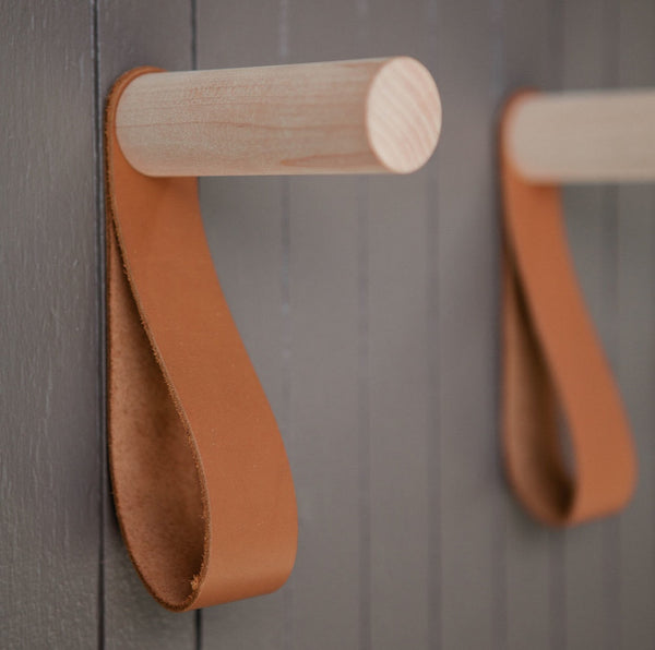 Walnut Leather Hooks