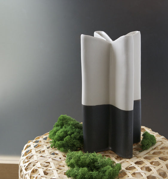 Plus Vase, White + Band