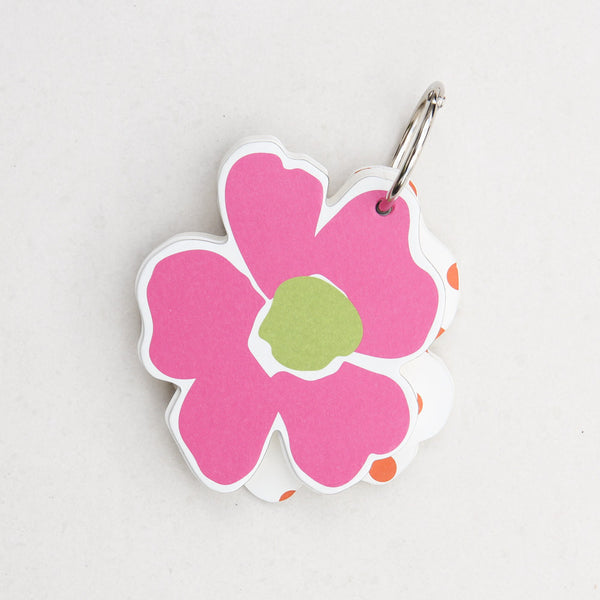Note Keychain, Flower