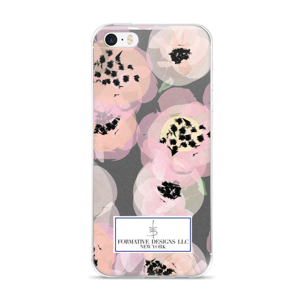 Aggie's Flowers, Gray iPhone case