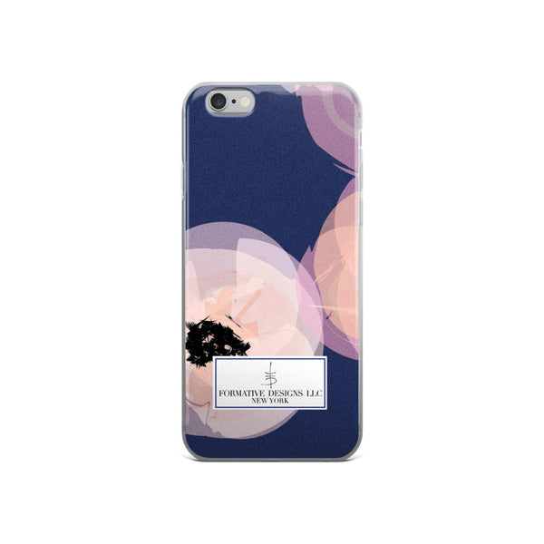 Aggie's Navy Flowers iPhone Case
