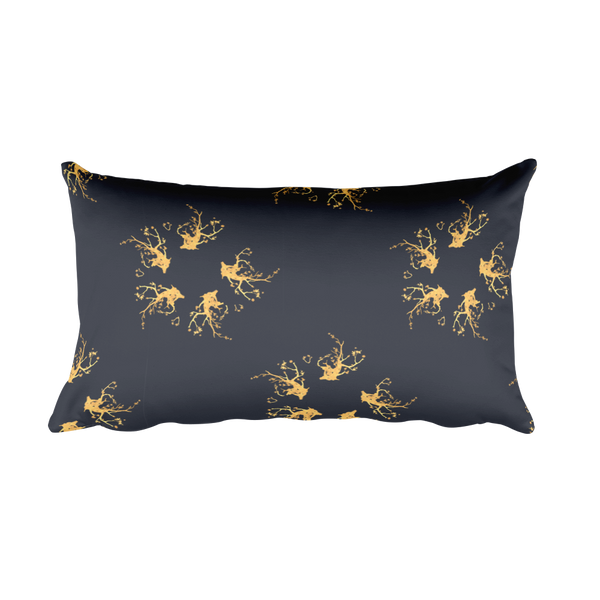 Golden Wreath Pillow