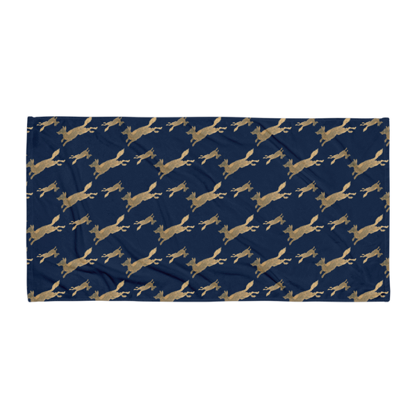 Jumping Golden Fox Beach Blanket