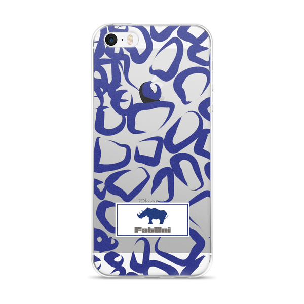 FatUni Blue Giraffe iPhone Case