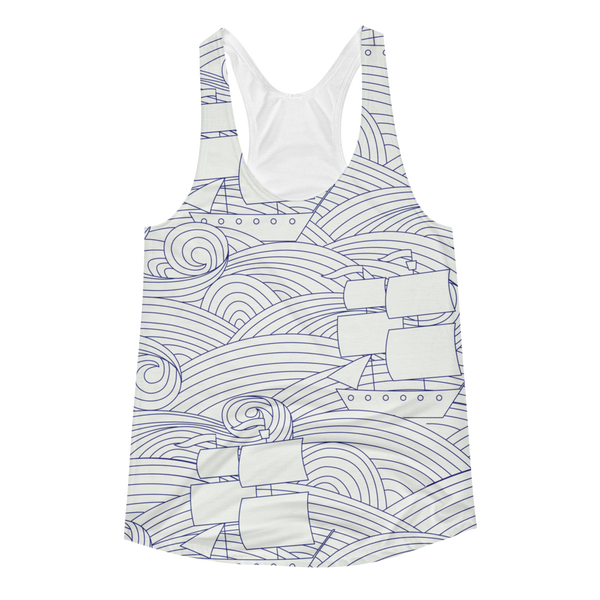 Come Sail Away with Me Women's Racerback Tank