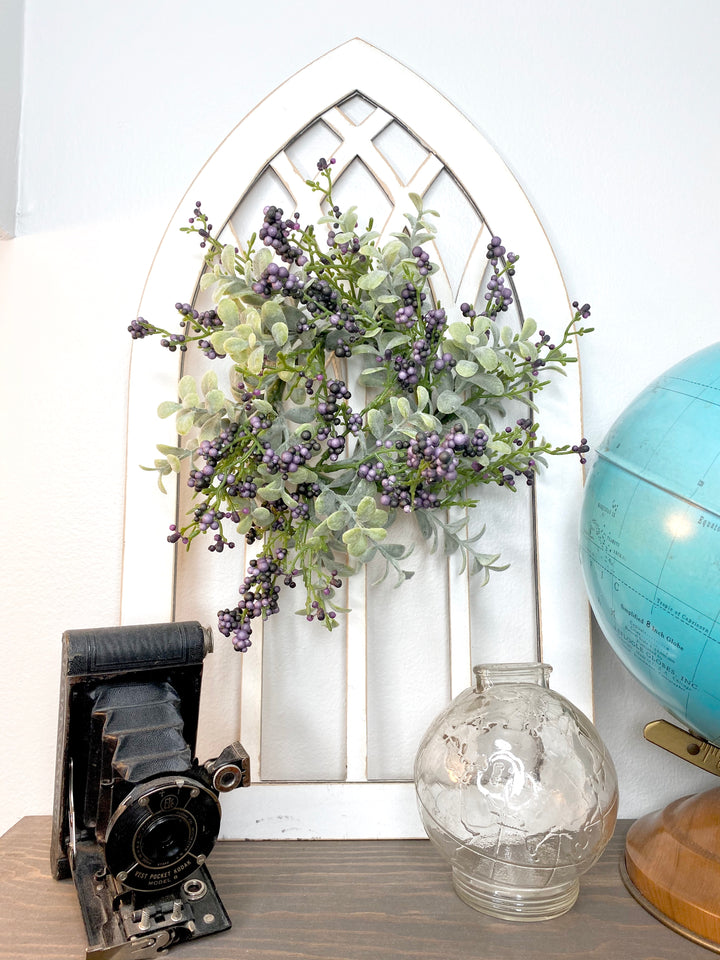 Gothic Window Cut Out - Wreath Not Included