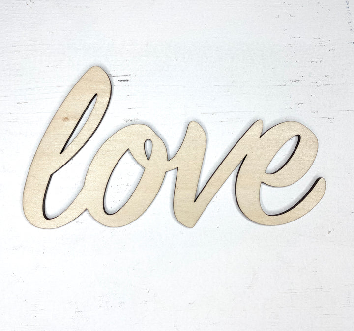 Love Word Cut Out