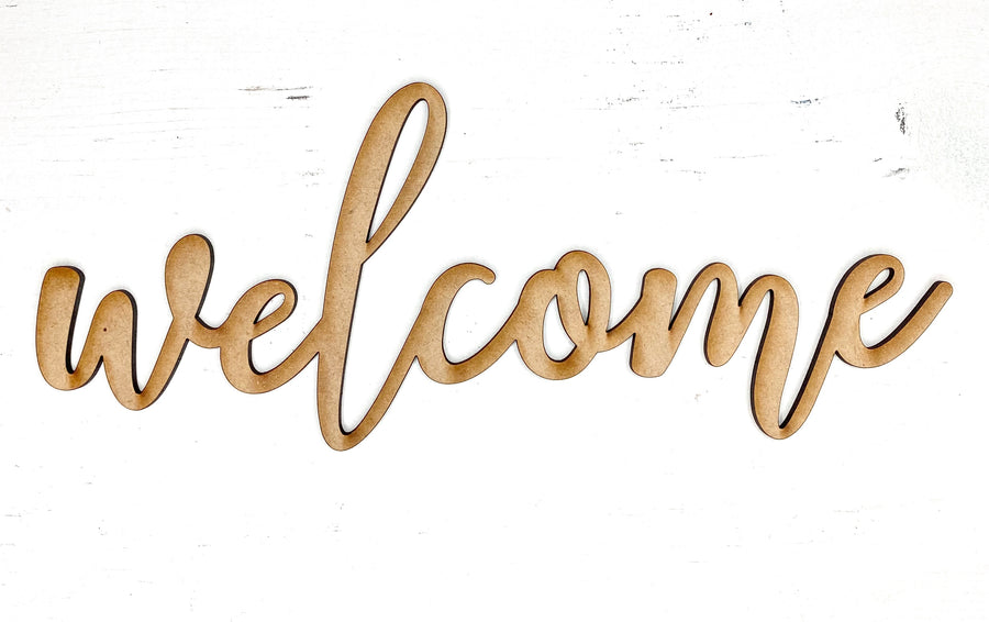 Welcome Word Cut Out
