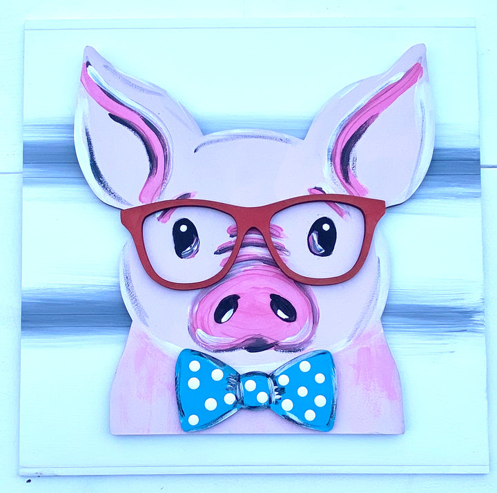 Pig with Glasses Virtual Paint Party - April 23, 2020
