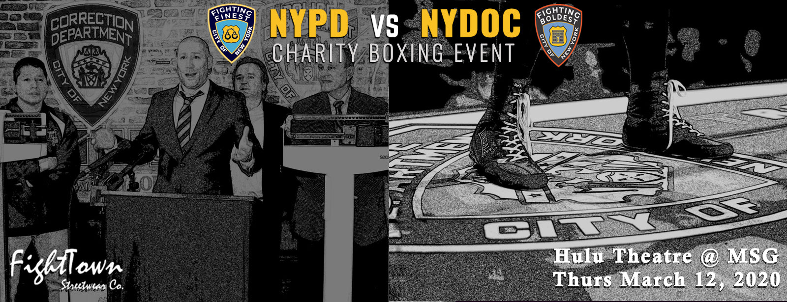 Official NYPD vs NYDOC Charity Event Apparel