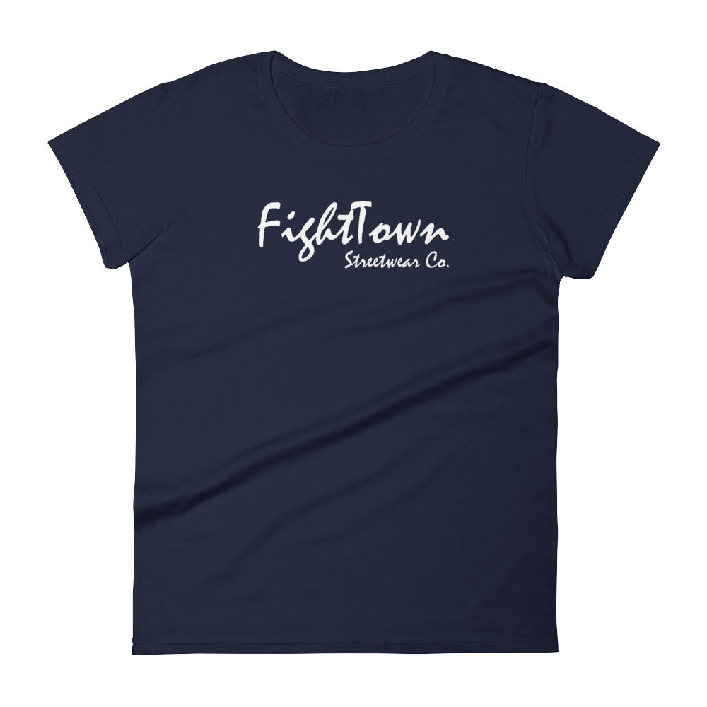 Navy Boyfriend Tee - FightTown