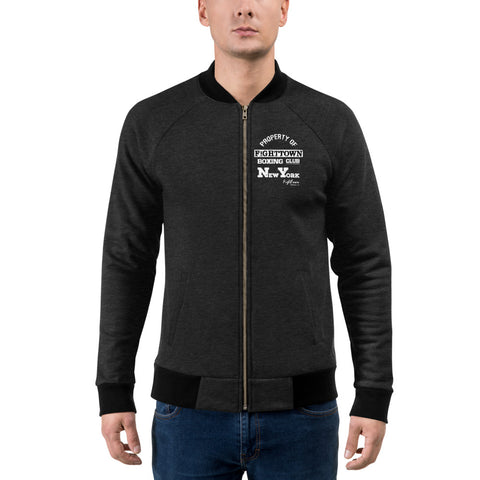 Zip-Up Bomber Track Jacket - NYC StreetBoxing Champion (Sugar Hill)