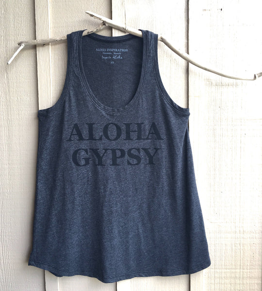 ALOHA GYPSY gray tank - SOLD OUT ALL SIZES