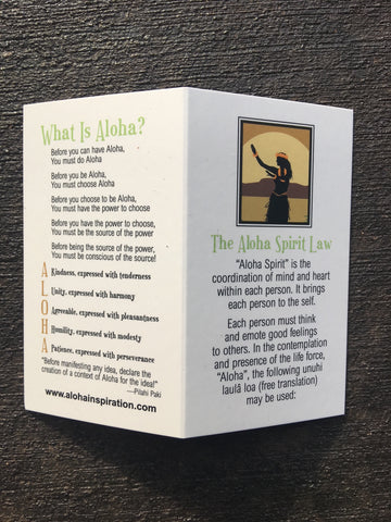 NEW! ALOHA SPIRIT CARD