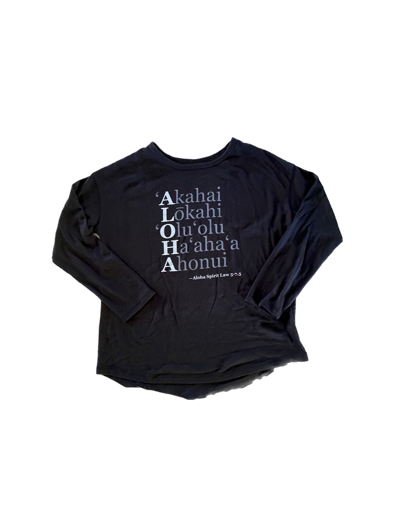 NEW! Aloha Acronym/Spirit Law Knit Pullover