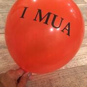 "I MUA 12"" Balloon"