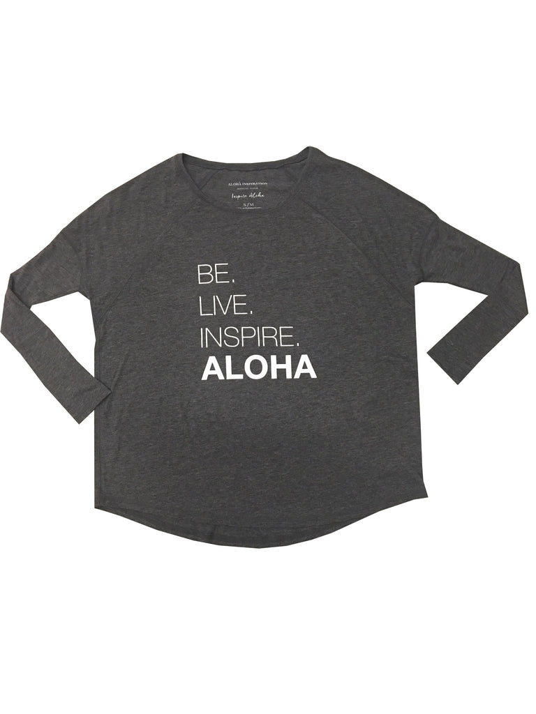 New! Be.Live.Inspire ALOHA Jersey Long Sleeve T-Shirt
