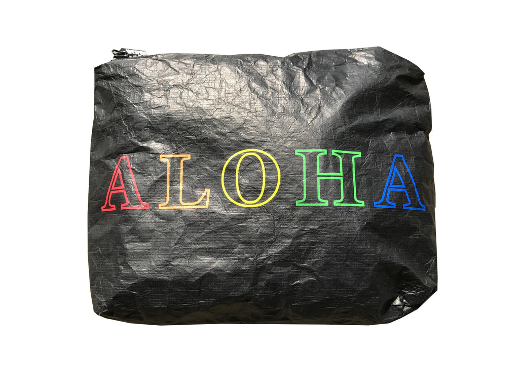 ALOHA 5-color black tyvek pouch