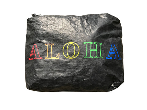 SALE! ALOHA 5-color black tyvek pouch