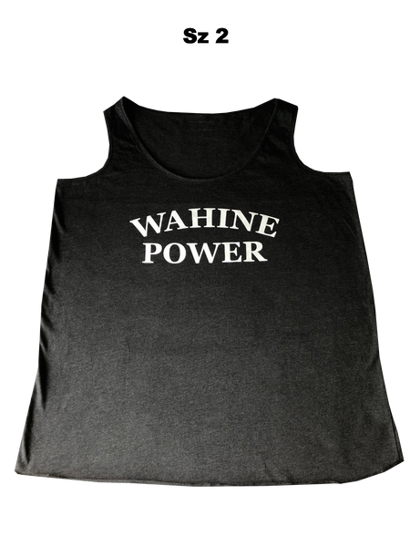 NEW! WAHINE POWER Gray Tank