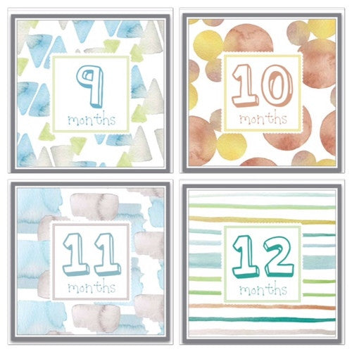 Gender Neutral Monthly Labels Artwork