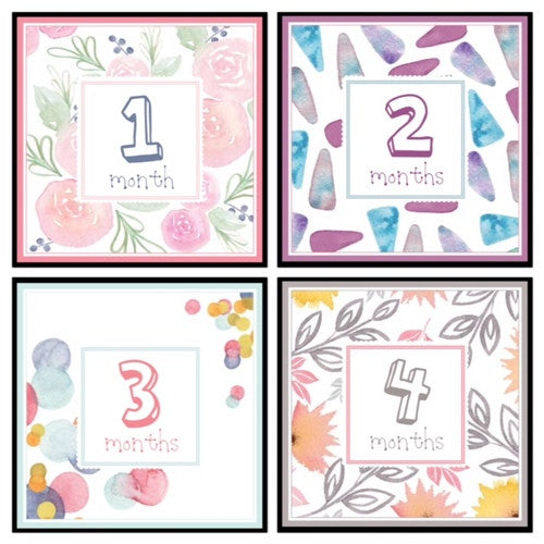 Girl Monthly Labels Artwork